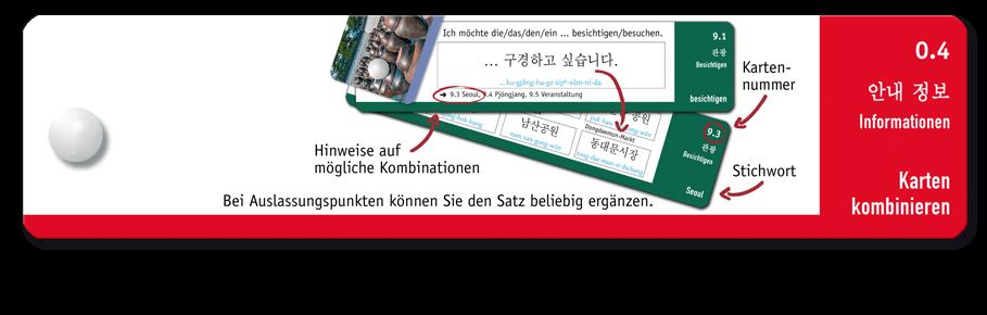 Korea-Riegel Beispielseite